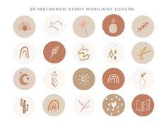 Logo and Branding Design Templates and Prints by IsabelaSchielke Foto Instagram, Instagram Design, Instagram Story Ideas, Instagram Logo, Web Banner Design, Line Art, Boho, Instagram Highlight Icons, Story Highlights
