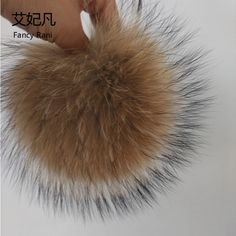15cm Big 100% Real Raccoon Fur Pom Poms Ball Fur for Women Winter Hats Caps Natural Raccoon Fur Ball for Key Chain Accessories