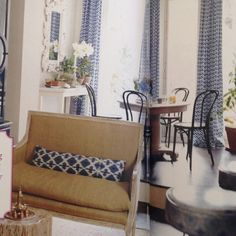 Settee love.  From one of my very favorite homes featured in Domino.