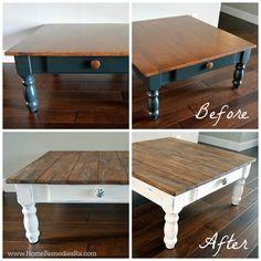 DIY Faux Planked Tabletop   HomeRemediesRx.com