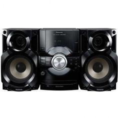 Micro System 300W RMS - Panasonic, Entrada USB Play, Rádio FM, MP3 e D.Bass - SC-AKX80LB-K