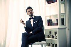 a black tie