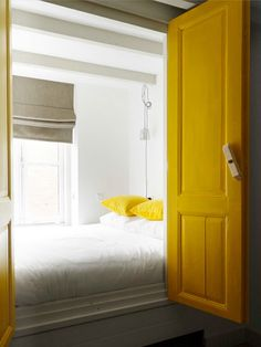 Hints of sunny yellow don't overwhelm when paired with neutrals