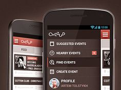 My new shot on Dribbble!    Owzzup Android Version.    It is a quick and easy search for events around the world!