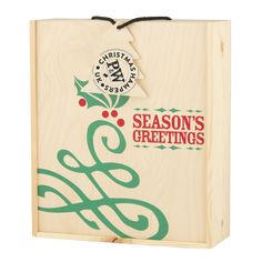 H01 #Christmas Box #Hamper with corporate branded Christmas tree tag