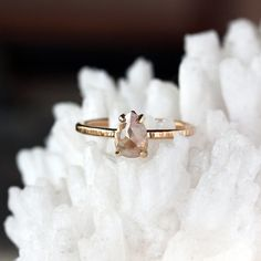 Par Cut Engagement Ring - Non Diamond Engagement Rings - Engagement Rings Without Diamonds