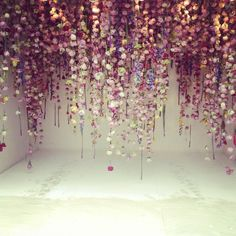 Cascading flowers by Rebecca Louise Law.