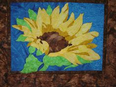 Batik Quilt Sunflower Wallhanging by Tessasquiltshop on Etsy