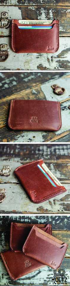 Wanting to give your groomsmen a unique and timeless item?  The Bradford Front Pocket Wallet is just that!  This wallet can comfortably hold up to 8 cards and cash with its two-pocket sleeve.