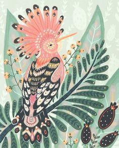 Hoopoe Bird Art Print