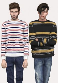 AM Striped Sweater at Spectacledchic-Sims4 • Sims 4 Updates