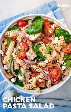 Chicken Pasta Salad Belongs At Every Summer Bbq. Get The Recipe FromThis Chicken Pasta Salad Belongs At Every Summer Bbq. Get The Recipe From Healthy Pastas, Healthy Chicken Recipes, Healthy Snacks, Healthy Sides, Cooking Recipes, Pasta Salad Recipes Cold, Dinner Healthy, Beef Recipes, Picnic
