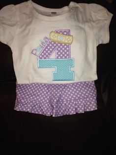 Doc McStuffins Birthday Outfit by SewMacy on Etsy