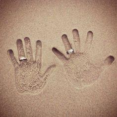 Hand prints...