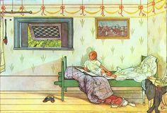 Carl Larsson - Cock - a - Doodle, Seven O'Clock Catalog