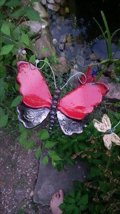 Keramik-Schmetterling von Märchenwelten aus Ton