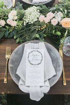 Rustic garden wedding place setting | Kaitlin Maree Photography | See more: http://theweddingplaybook.com/wedding-playbook-magazine-volume-10/