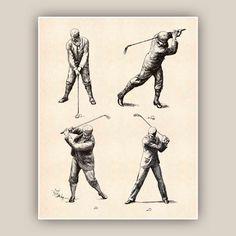 Dies ist ein Golf-Druck mit retro Illustrationen für Kunst Wanddekoration im Golf Club, zu Hause und ein ideales Geschenk für Golfbegeisterte. Retro-Abbildungen sind verbessert und auf Digital Tee gebeizt Hintergrund gedruckt.  ------------------------------------------------------ Bildgröße ist 8 x 10 Zoll (20,2 x 25,4 cm). Papierformat ist 8,2 x 10,2 Zoll (20,9 x 26 cm). Auf Schwergewicht archival weiß matt mit Pigmenttinten und professionelle Drucker Epson Papier gedruckt…