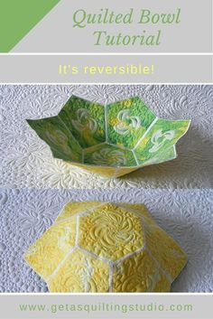 Tutorial – Quilted bowl via @getagrama