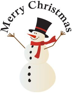 Christmas Clip Art including that includes snowmen and carolers. You will find snowmen doing all sorts of things, riding on a sled, giving gifts and other holiday activities along with carolers, you and old alike.: Merry Christmas Snowman