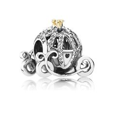 ef00f4c5c Pandora Cinderella Pumpkin Charm This stunning charm has beautiful clear cz  stones, with cut out designs and a gold crown. FREE: All Pandora charms  will ...