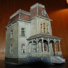 HO Scale Custom Built Bates Psycho House | eBay