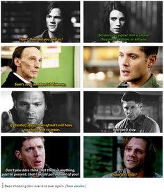 Dean choosing Sam