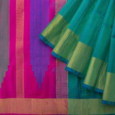 Ghanshyam Sarode Handwoven Raw Silk Sari 1013375 - Sari / All Saris - Parisera