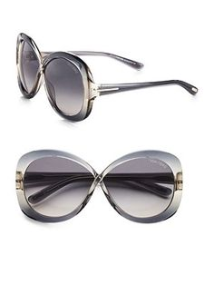 Your summer looks will soar to new levels of sophistication with these butterfly-shaped acetate frames by Tom Ford.  #TomFord #ViewTry