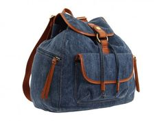 """This is a great site with instructions for making all kinds of bags including this denim """"old school"""" backpack."""