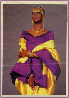 In full regalia; Princess Elizabeth of Toro:  The first African and Royal to be an international supermodel.