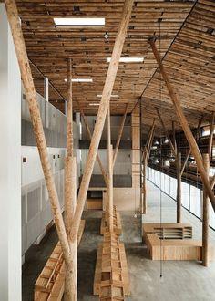 Kengo Kuma & Associates is part of Wood architecture - wood Structure Exhibition Kengo Kuma Kengo Kuma & Associates Architecture Design, Timber Architecture, Chinese Architecture, Futuristic Architecture, Contemporary Architecture, Installation Architecture, Japan Architecture, Kengo Kuma, Small Bathroom Interior