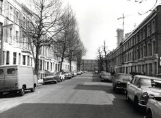 Before: Until the Wornington Green Estate was built, Wheatstone Road was a tree-lined through road, part of a grid of streets in the neighbourhood. It disappeared when the estate was created in the Old London, West London, Notting Hill London, Local Studies, Photo Memories, London Photos, City Streets, The Neighbourhood, Street View