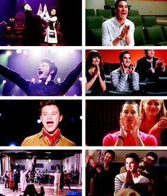 Blaine watching Kurt perform