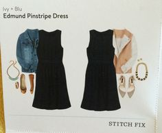 Ivy + Blu Edmund Pinstripe Dress card