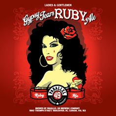 Gypsy Tears Ruby Ale is a American Amber / Red Ale style beer brewed by Parallel 49 Brewing Company in Vancouver, BC, Canada