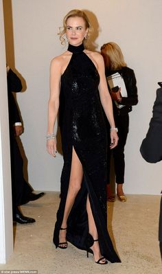 Legs ahoy! Despite treading the boards the previous evening in London, Nicole Kidman showe...