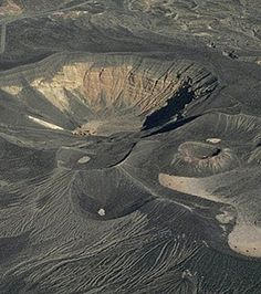 Aerial photo of Ubehebe Craters, Death Valley, California.