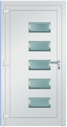 Modell Arktus innen Aluminium-Eingangstüre in weiß - Innenansicht! Erhätlich bei Fenster-Schmidinger aus Gramastetten in Oberösterreich! #doors #türen #alutüren