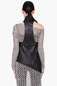 Slouchy Leather Vest