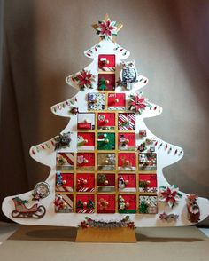 Rustic #Advent #Calendar Tree  #Woodland #Animals by AuriesDesigns