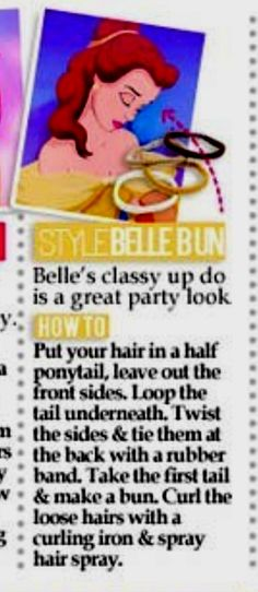 Belle's hairstyle