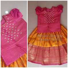 Image may contain: people standing Kids Party Wear Dresses, Kids Dress Wear, Kids Gown, Dresses Kids Girl, Girls Frock Design, Baby Dress Design, Kids Frocks Design, Kids Lehanga Design, Kids Ethnic Wear