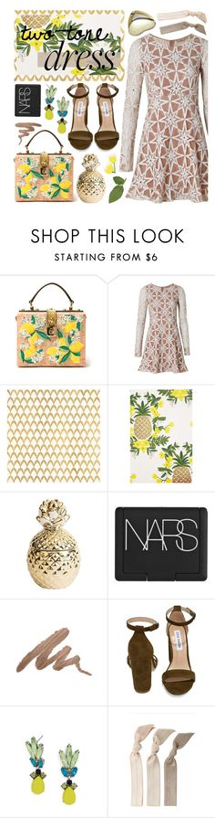 """Love & Lemons"" by melissssaa ❤ liked on Polyvore featuring Dolce&Gabbana, For Love & Lemons, Barclay Butera, Rifle Paper Co, NARS Cosmetics, Urban Decay, Steve Madden, BaubleBar and Emi-Jay"