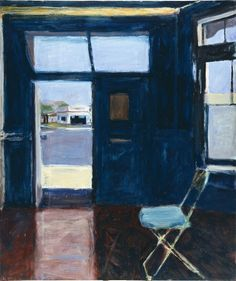 Richard Diebenkorn, Interior with Doorway, 1962 (Pennsylvania Academy of the Fine Arts). Richard Diebenkorn, Interior with Doorway, Oil on canvas Richard Diebenkorn, Jasper Johns, Jackson Pollock, Matisse, Abstract Expressionism, Abstract Art, Abstract Painters, Bay Area Figurative Movement, Robert Motherwell