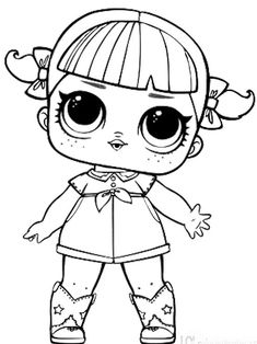 dusk lol doll coloring pages | Treasure L.O.L. Surprise Doll Coloring Page | lol ...