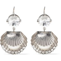 Miu Miu Silver-tone, Swarovski crystal and faux pearl earrings (26.085 RUB) ❤ liked on Polyvore featuring jewelry, earrings, imitation pearl earrings, miu miu earrings, fake pearl earrings, sparkly earrings and swarovski crystals earrings