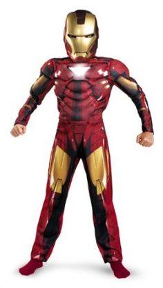 Iron Man 2 Mark 6 Classic Muscle Costume, Child S(4-6) #Iron man costume