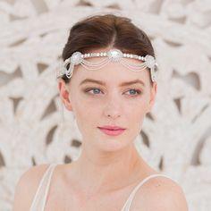 Wedding headband Bridal accessories Deco by BrittenWeddings