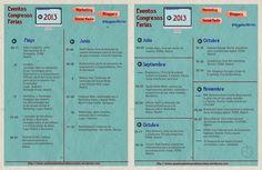 Calendario de eventos relacionados con el sector del #Marketing y #SocialMedia